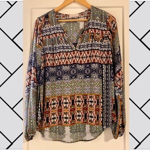 Eight Sixty patterned blouse